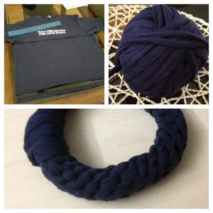 tshirt yarn bracelet