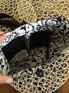 UCF upcycled tshirt purse inside bohoECO