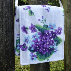 upcycled dish towel purse by bohoECO